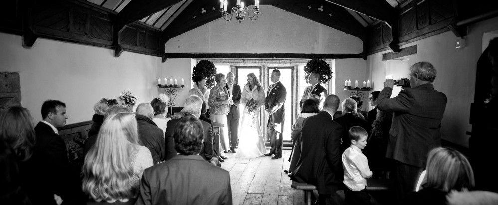 Pentillie Castle in Cornwall. Bathing Hut wedding ceremony