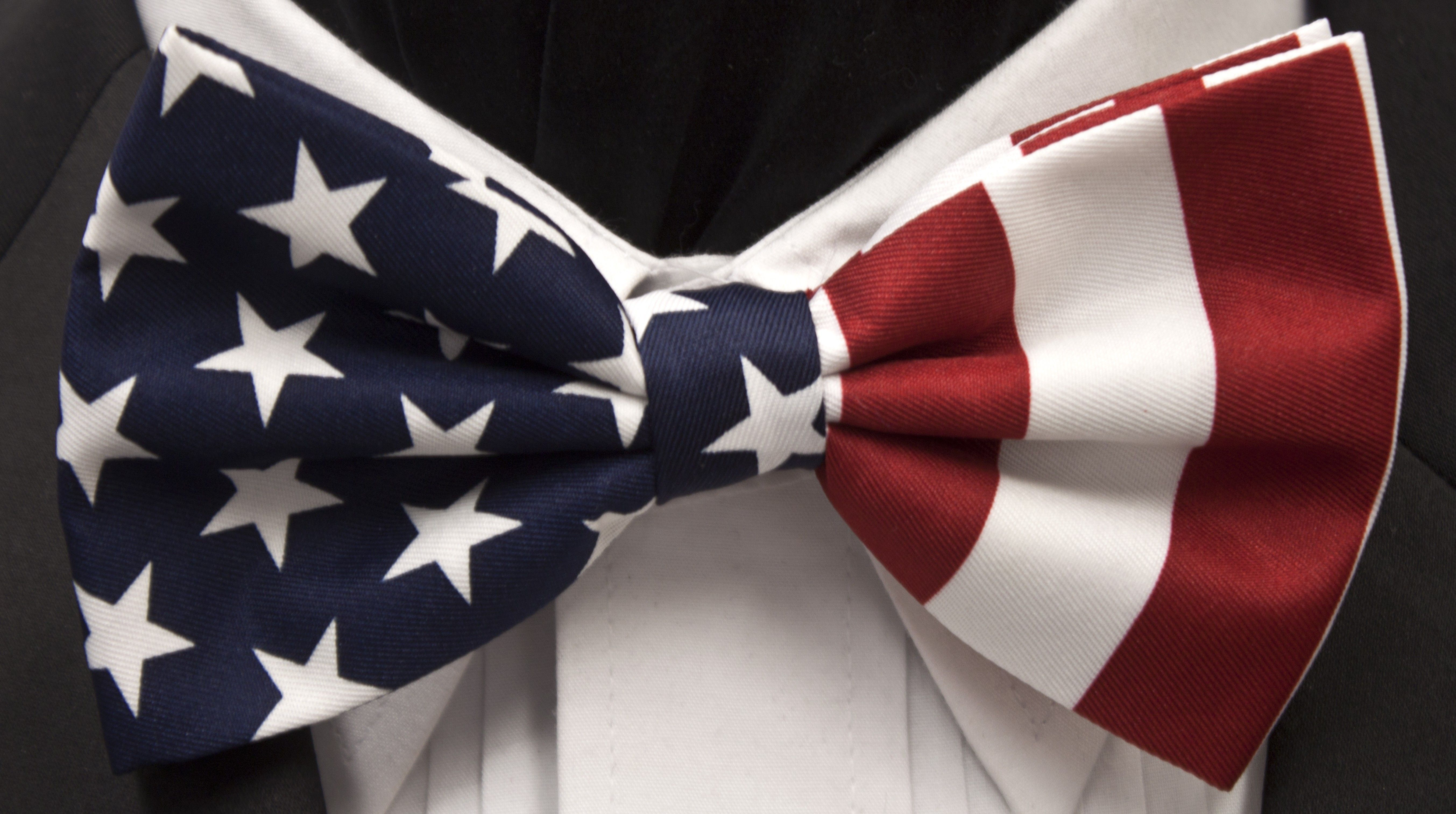 Usa Flag Patriotic Bowtie Pretied Mens American Flag Bow Usa Flag Flag Bow Tie
