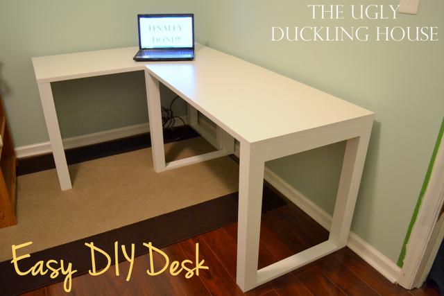 Easy Diy Craft Desk Diy Crafts Desk Diy Corner Desk Craft Desk