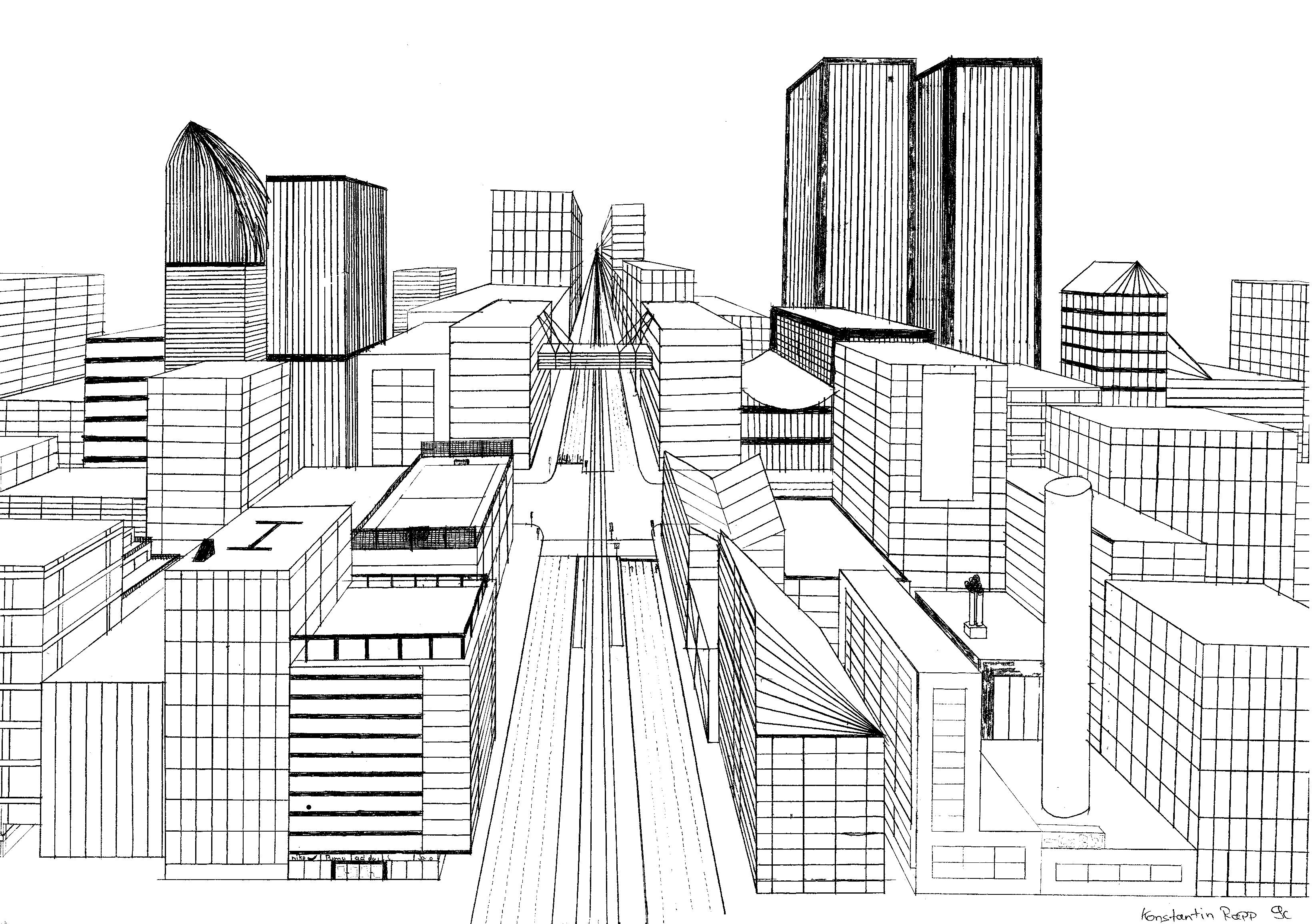 perspektive zeichnen arbeitsblatt - Pesquisa Google | Perspektive ...