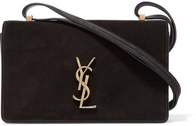Saint Laurent - Monogramme Dylan small suede and leather shoulder bag