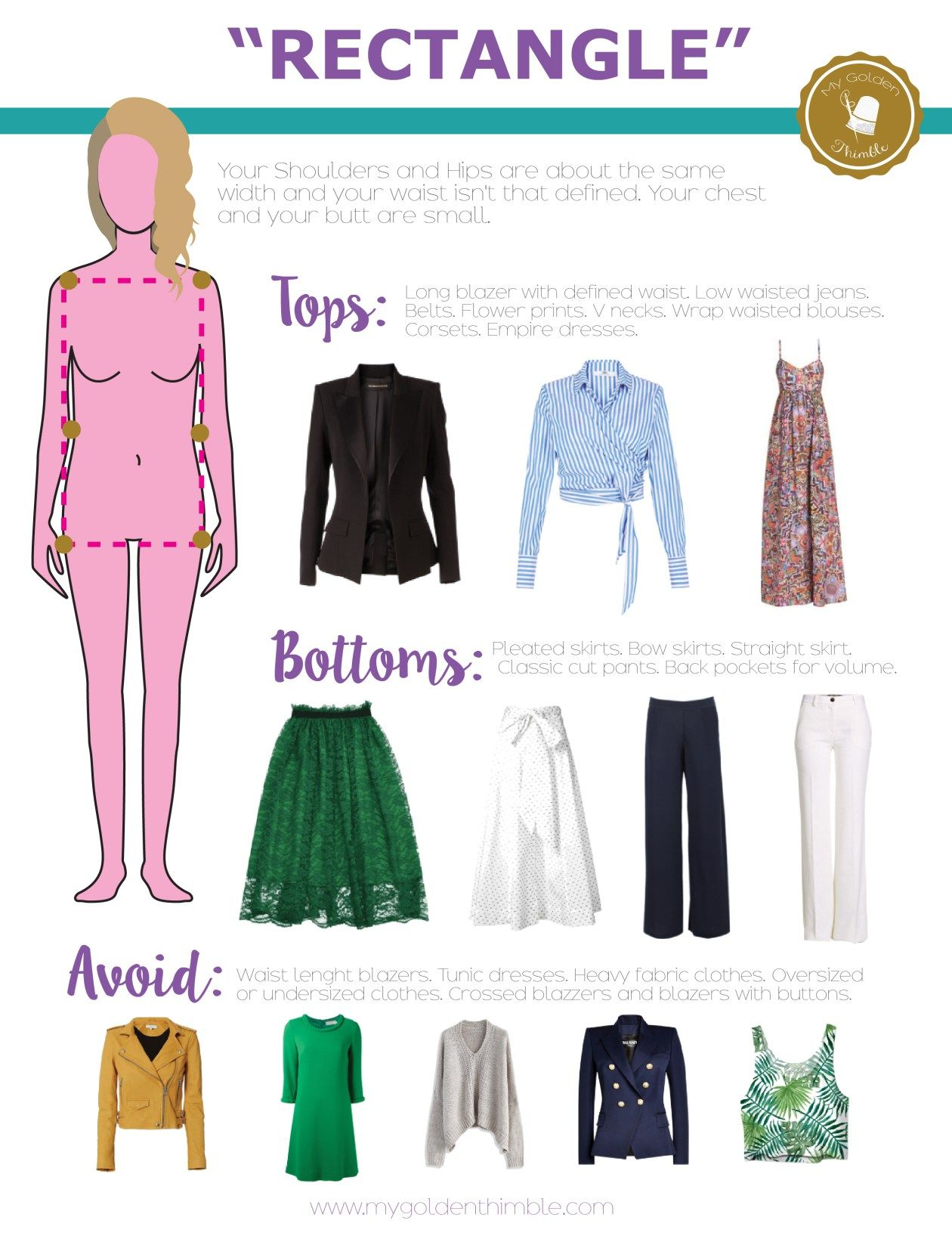 What is my body shape? Dress accordingly to it.  My Golden