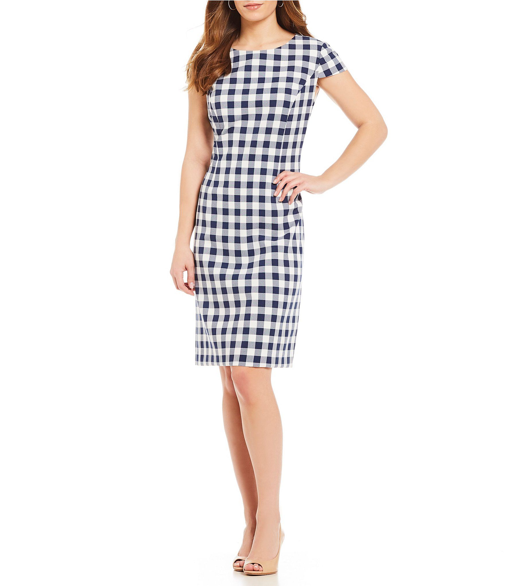 90ac407629c Preston and York Joise Gingham Buffalo Check Sheath Dress  Dillards ...