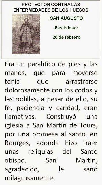 San Augusto Protector Enfermedades De Huesos Oraciones Católicas
