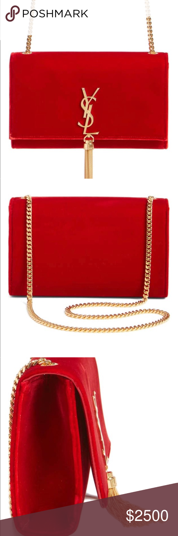 new season biggest discount first rate Red tassel YSL clutch bag Red tassel YSL clutch bag BRAND ...