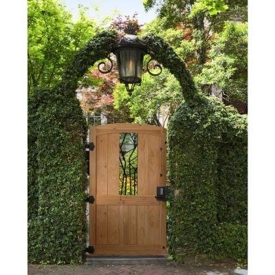 3 5 Ft X 6 Ft Cedar Fence Gate With Decorative Iron