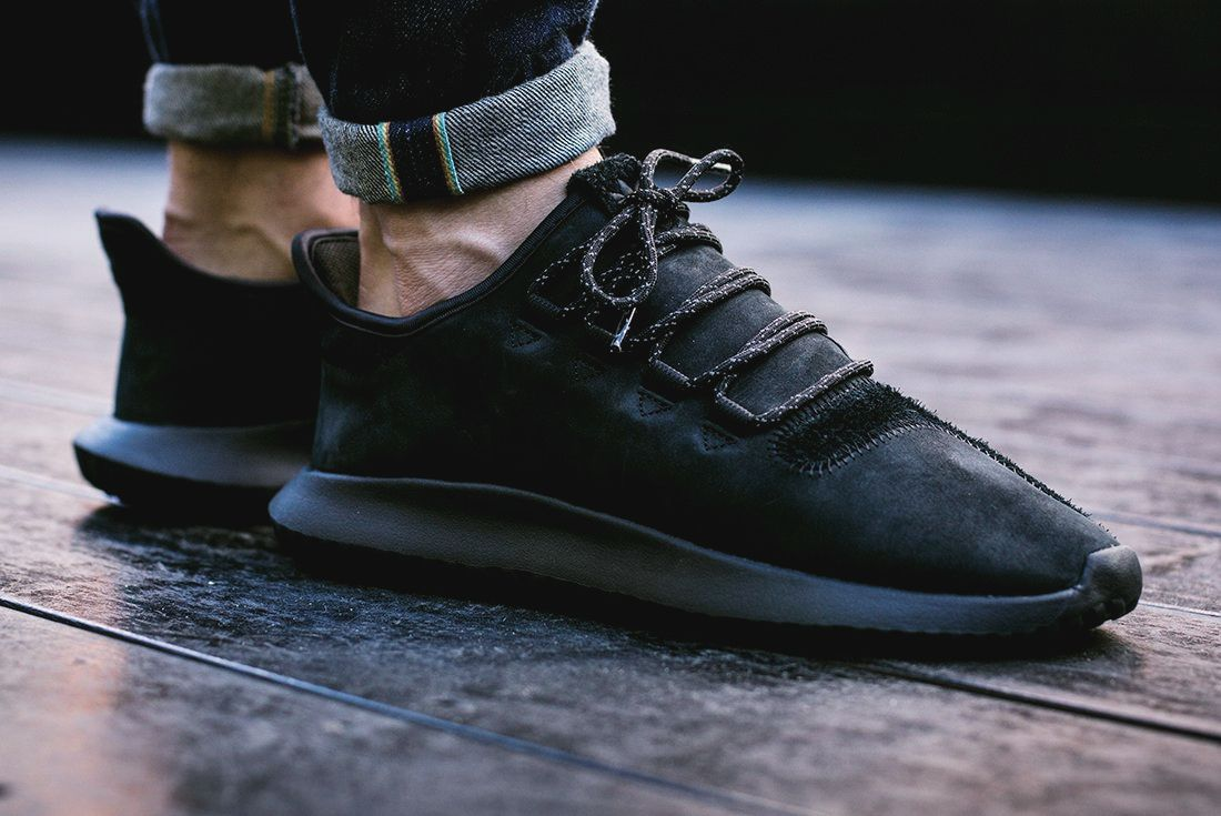 big sale 2f803 d456c adidas Tubular Shadow Suede 'Blackout' (via Kicks-daily.com ...