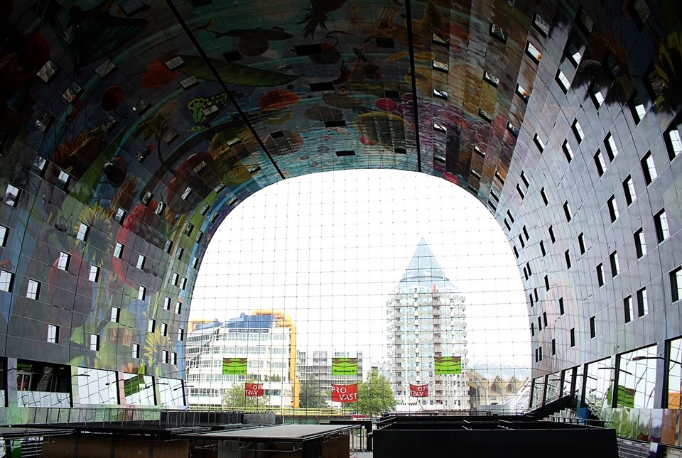 In Photos Inside Rotterdam S Markthal As The Bird Flies