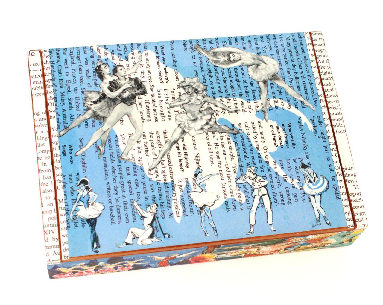 Vintage Sixties Ballerina Swan Lake Children's Book Cigar Box by Paper Vs. Glue