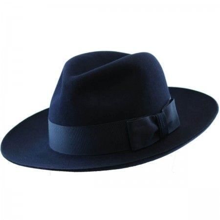 18ffba6892d Classic Fedora Hat - Handmade - Navy