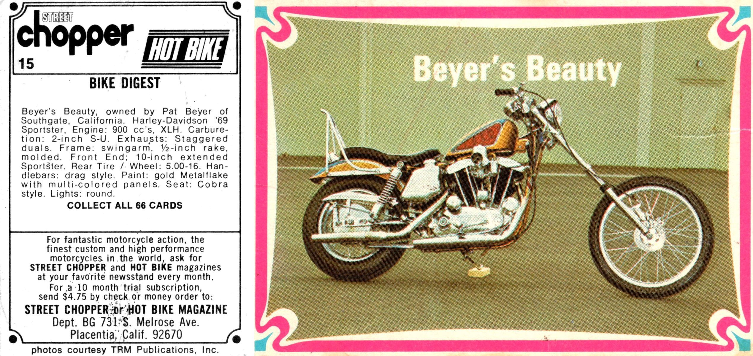 Card 15 Hot Bikes Cards Collector Cards