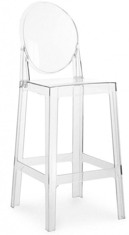Tabouret Polycarbonate Transparent Inspire Louis Ghost 64 Tabouret Transparent Tabouret De Bar Tabouret