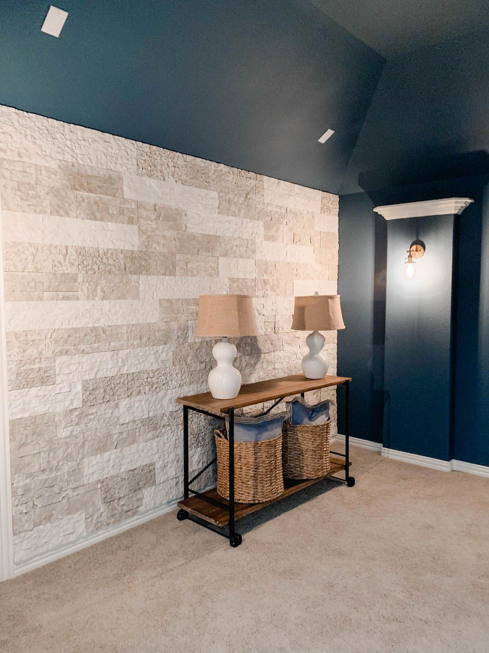 How To Build A Faux Stone Wall | Faux stone walls, Faux ...