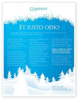 Boje Forest Snow Flyer Template   Advent