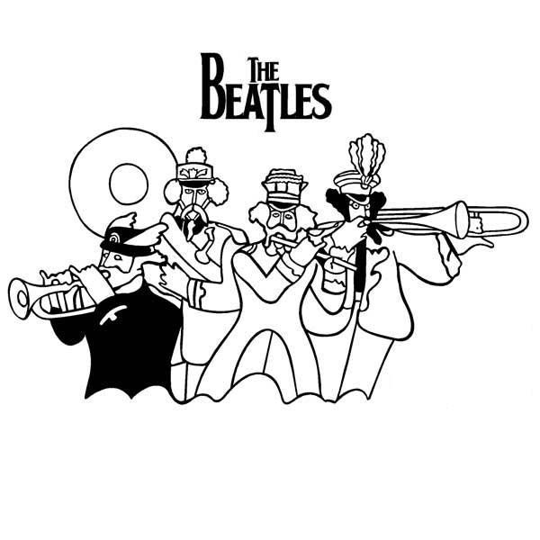 beatles yellow submarine coloring pages - Beatles Coloring Book