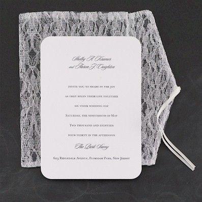 Extravagant Lace #Wedding #Invitation