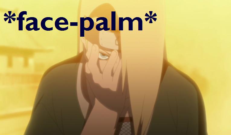 Facepalm Gif By Deidara The Akatsuki Deviantart Com On Deviantart Funny Naruto Memes Naruto Funny Facepalm Gif