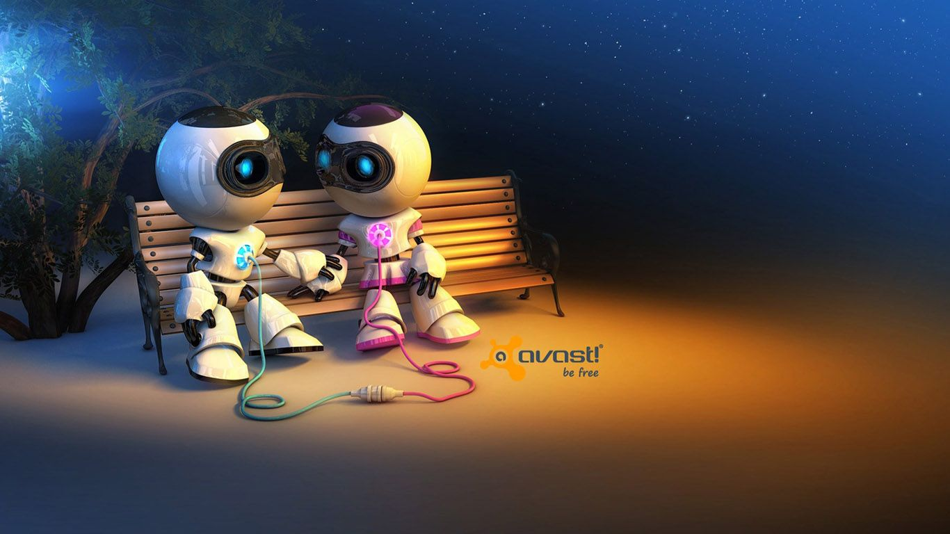 3d Robots In Love Picture For Desktop And Wallpaper Cartoon Wallpaper Hd Cartoon Wallpaper Amazing Hd Wallpapers