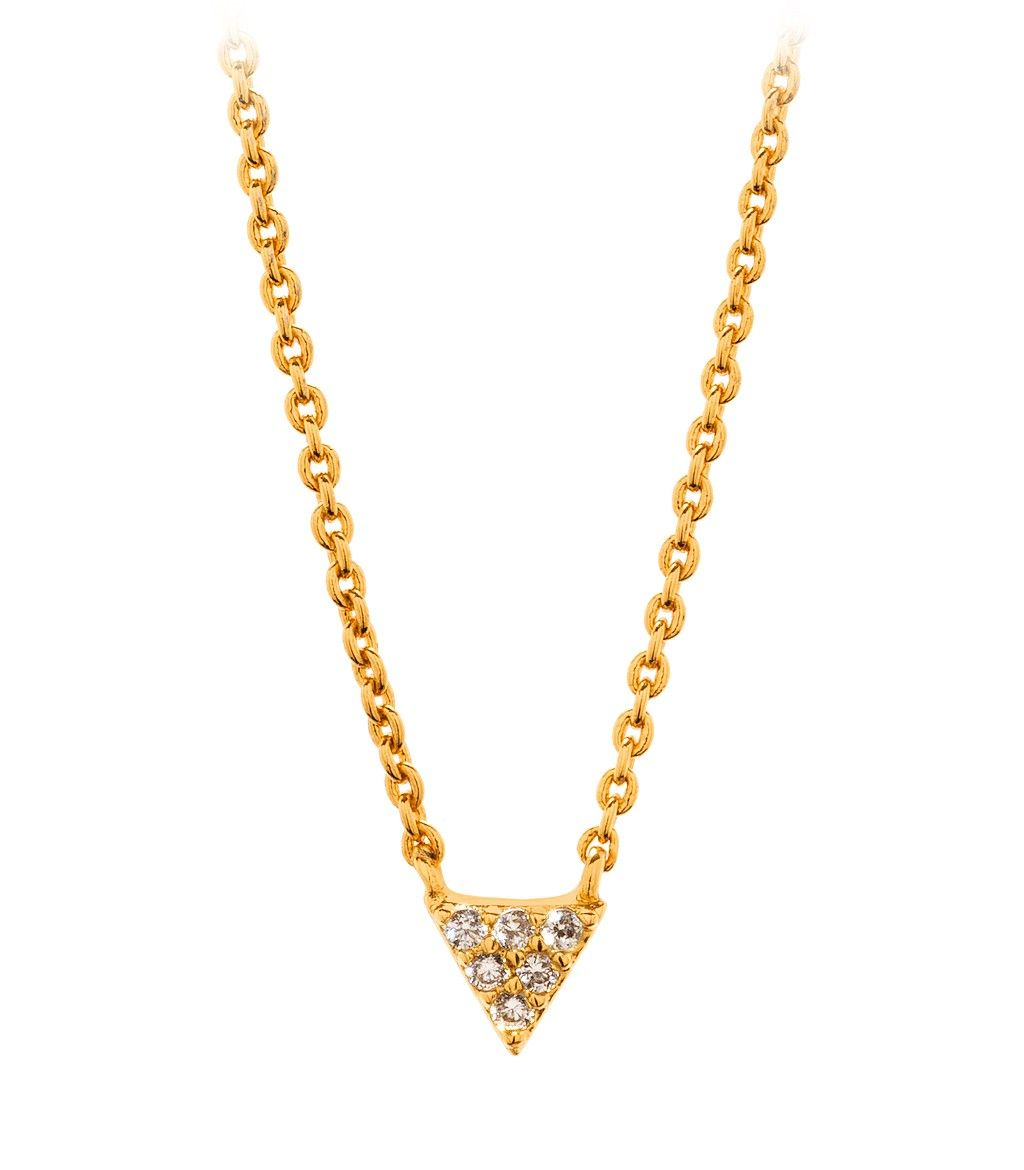 Shimmer Triangle Necklace