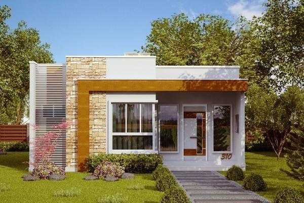 Plano De Casa Moderna Economica De 3 Dormitorios Y 70 Metros Cuadrados Planos De Casas Fachadas De Casas Modernas Disenos De Casas