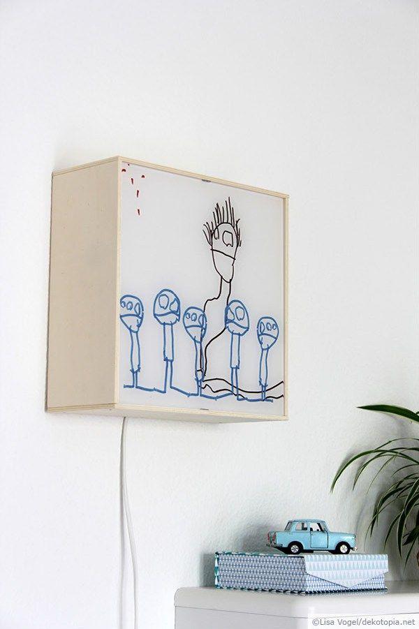 wandbeleuchtung selber bauen basteln pinterest kleine br der neulich und bruder. Black Bedroom Furniture Sets. Home Design Ideas