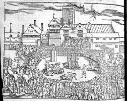 Foxe's book of martyrs: the burning of Anne Askew.