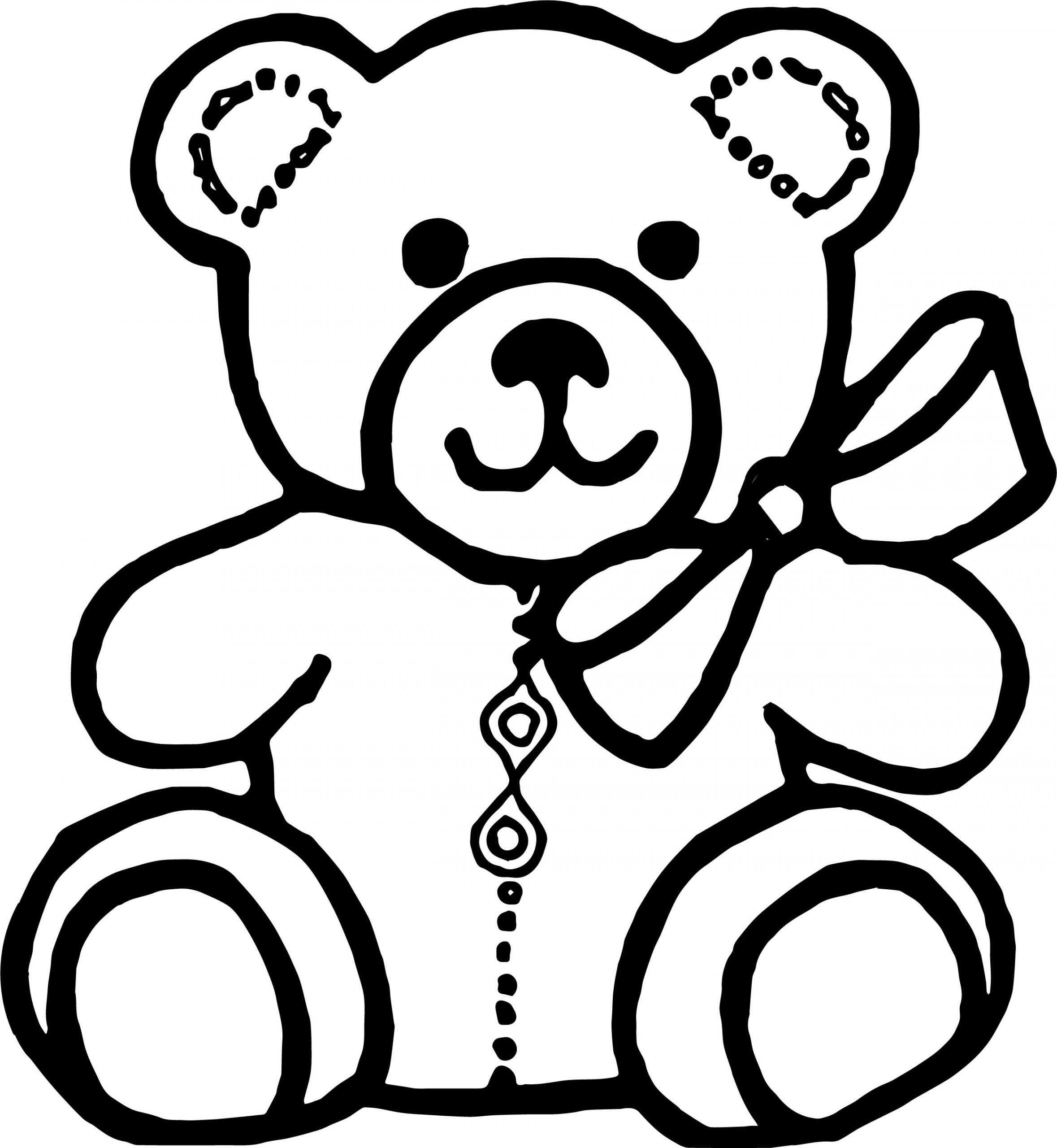 Magnificent Teddy Bear Outline Drawing in 2020 Teddy