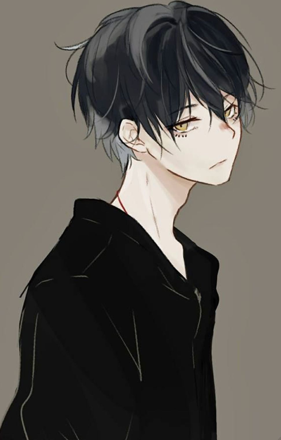 Pixiv Id 14054200 Black Hair Gold Eyes Anime Drawings Boy Cool Anime Guys Cute Anime Guys