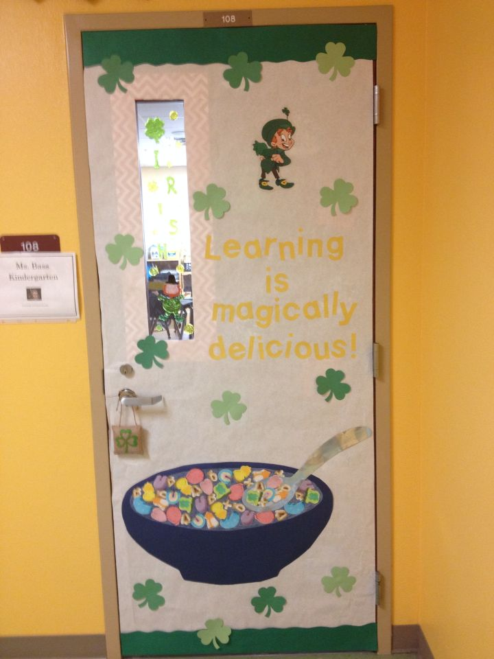 St Patrick S Day Classroom Door Learning Is Magically Delicious