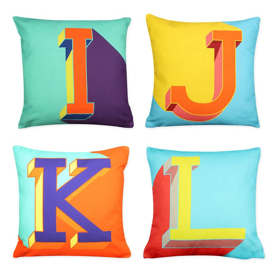 Alphabet letter cushion letter cushion lettering