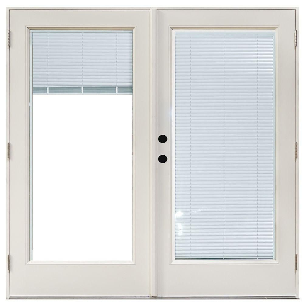 Mp doors in x in fiberglass smooth white righthand outswing
