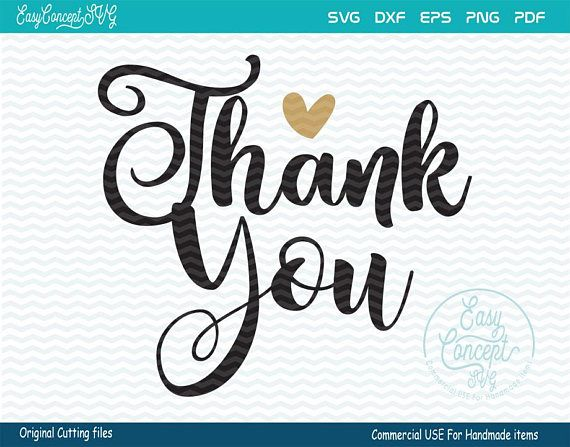 Thank You Svg Thank You Card Printable Thank You Clipart Thank You Cards Lettering Handmade Business