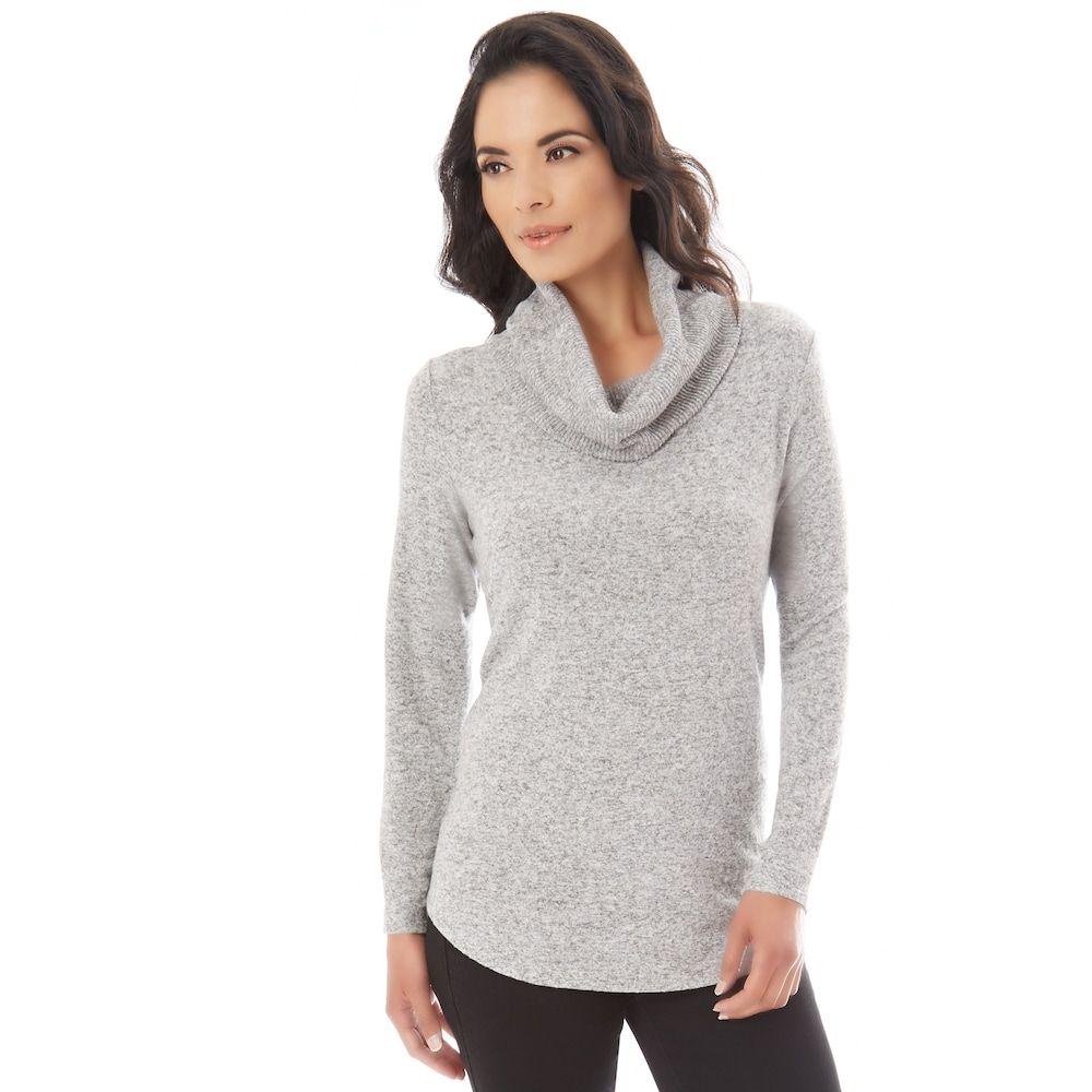 Petite Apt. 9® Fuzzy Cowlneck Sweater