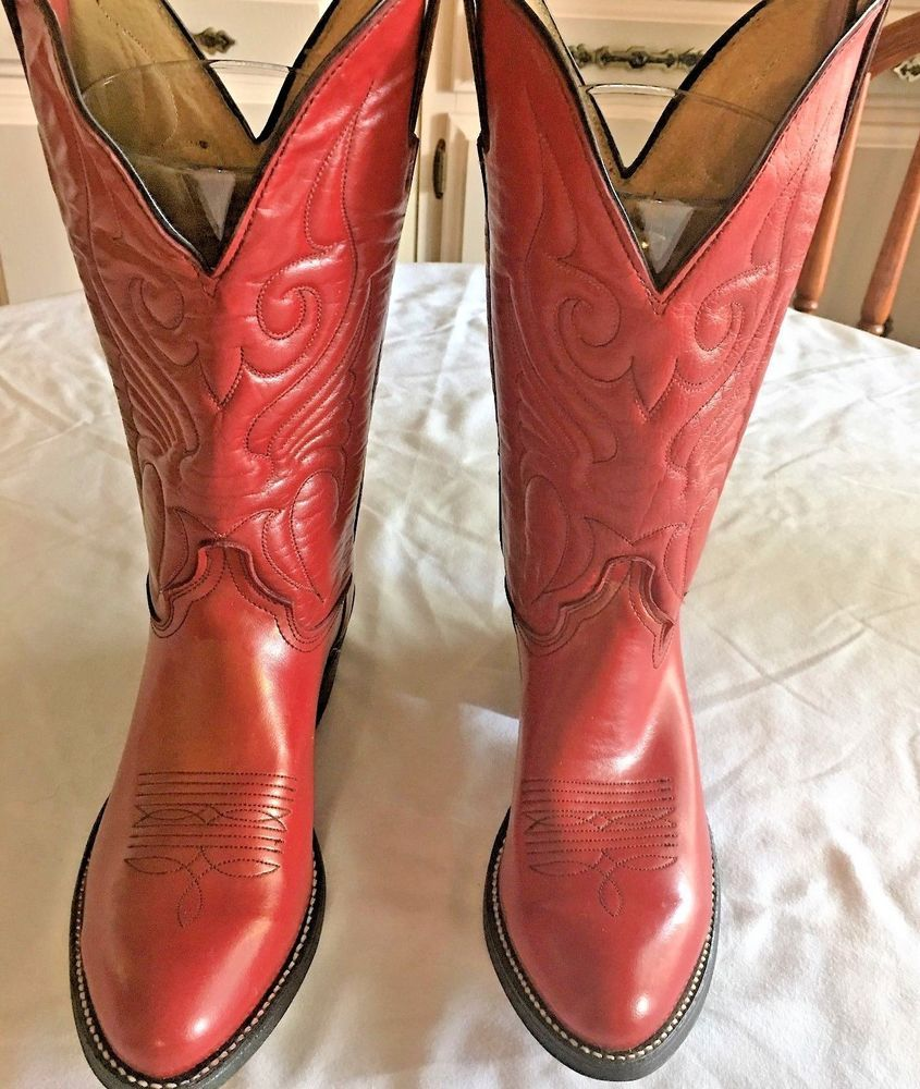 a44c2aa3eb Abilene Deep Red Leather Cowboy Cowgirl BOOTS Ladies Womens 5 1/2 to 6 M  New #Abilene #CowboyWestern #Casual