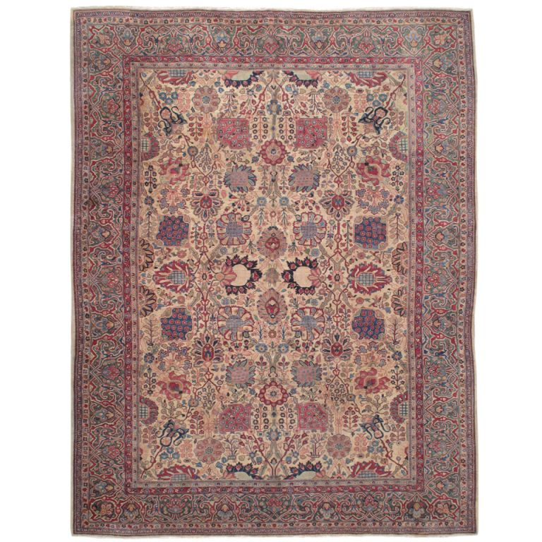 Antique Tabriz Carpet | See more antique and modern Persian Rugs at https://www.1stdibs.com/furniture/rugs-carpets/persian-rugs