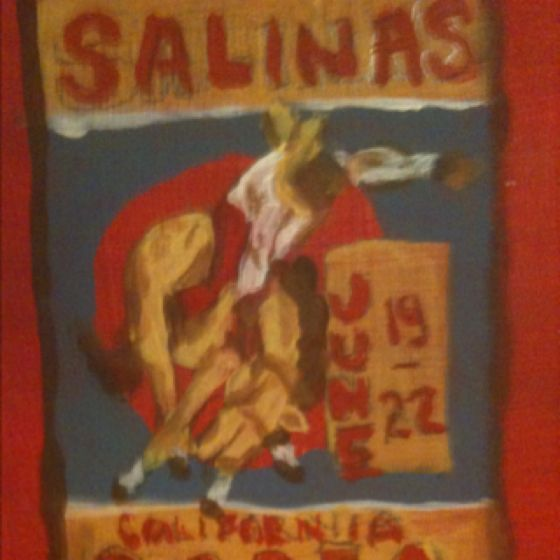 I Painted this from an old Salinas Rodeo poster. Circa 1940's