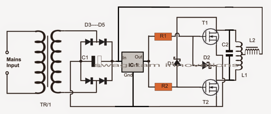 inductor coil diagram simple induction heater circuit hot plate