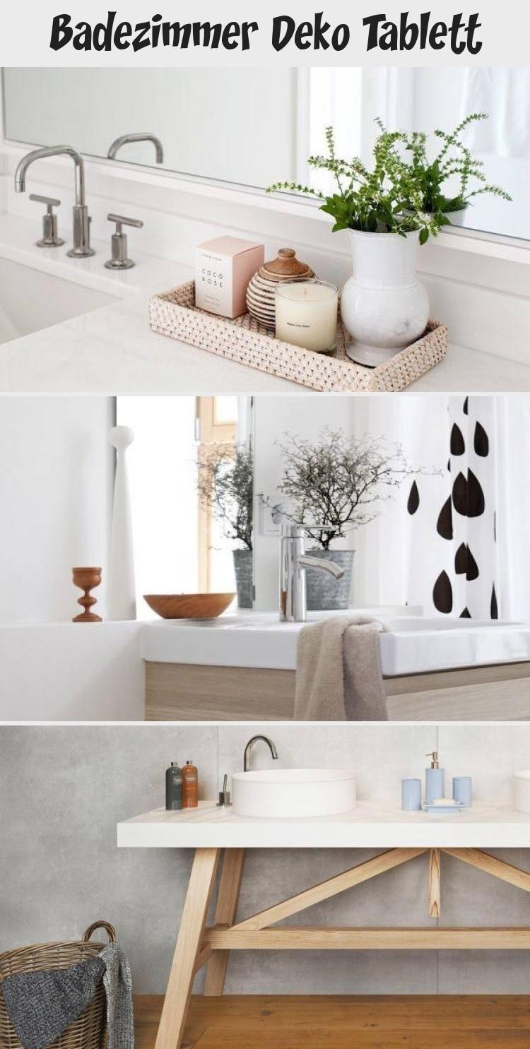 Badezimmer Deko Tablett