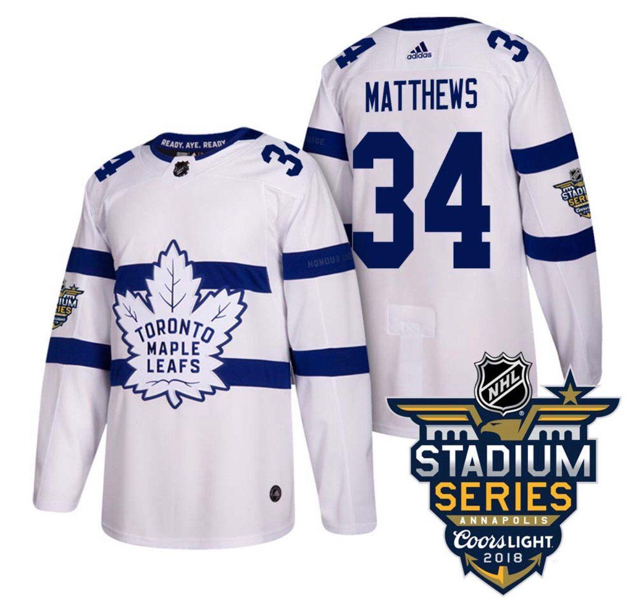 timeless design 2630a 6f502 2018 Coors Stadium Series Toronto Maple Leafs Premier Adidas ...