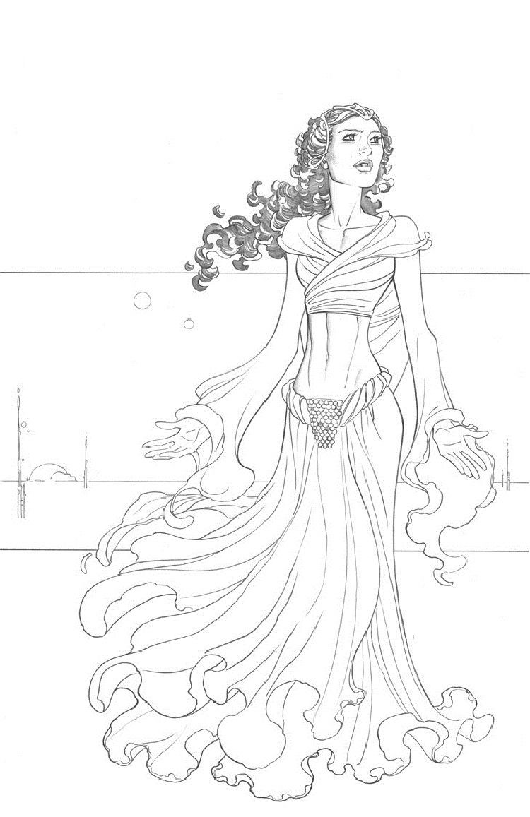 Star Wars Coloring Pages Padme Star Wars Coloring Book Coloring Book Art Star Wars Colors