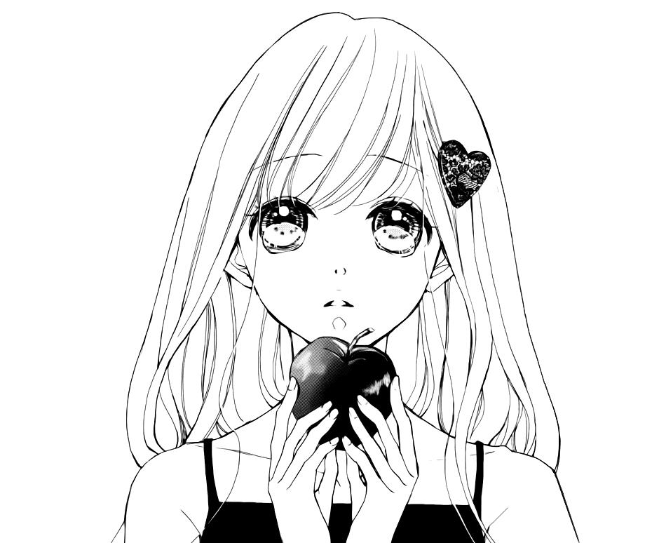 Черно-белые картинки манга