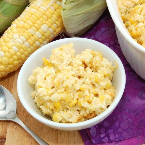 Creamy Corn Pudding -  with fresh corn