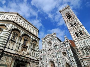 More #Duomo! #Firenze #Florence #goodweather #baptistry #travel #duomo #cathedral #belltower
