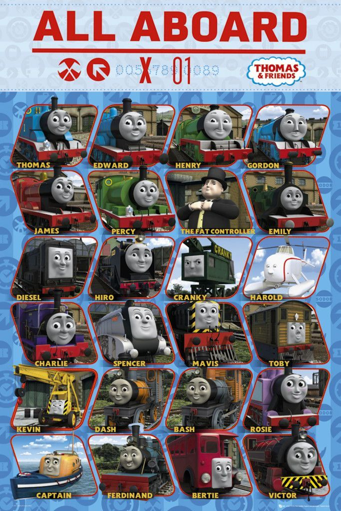 Thomas The Tank Engine Thomas And Friends All Aboard Official Poster Thomas And Friends Friends Poster Thomas The Tank Engine