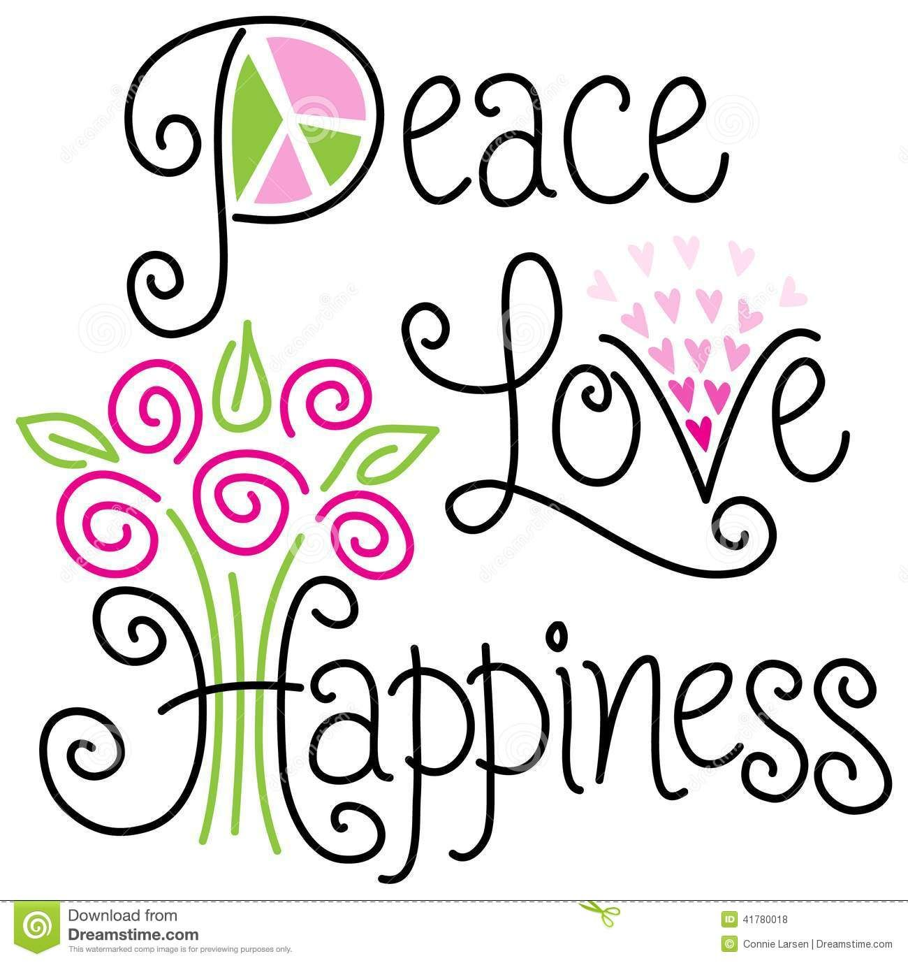 Peace Love And Happiness Quotes Adorable Peace Love And Happinesseps Stock Vector  Image 41780018  A