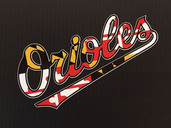 Orioles maryland flag script 6 by homegamers on etsy