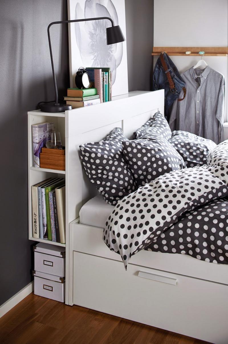 Brine Ikea Headboard Wooden Beds Pinterest Ado D Coration  # Chambre Avec Beaucoup De Rangement