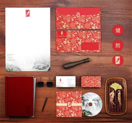 Traditional China Medicine - Contoh Corporate Identity untuk Branding Bisnis