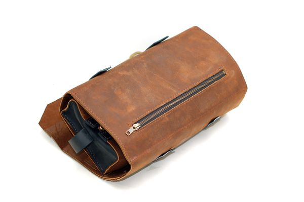 Men s Leather Shaving and Toiletries Roll Case  b0dfb5c0dc79a