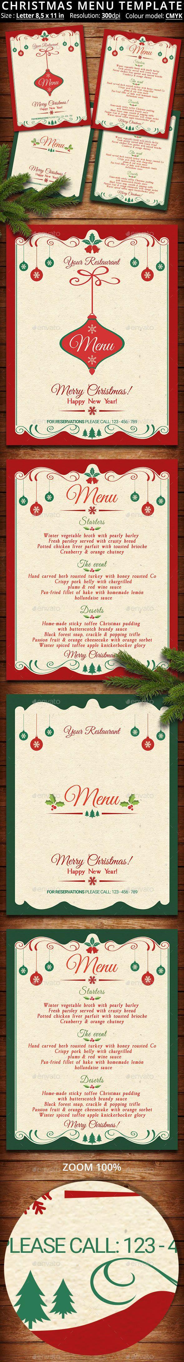 Christmas Menu Template | Navidad